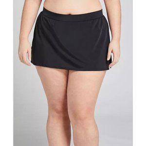 Lane Bryant Black Slitted Swim Skirt 20